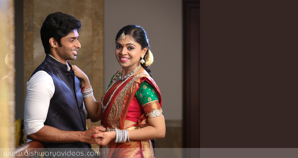Sundeep & Dhivya - wedding portrait photographers - Aishwarya Photos & Videos