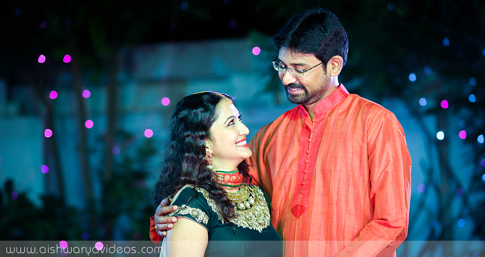 Vishnu & Sowmya - wedding videographers - Aishwarya Photos & Videos