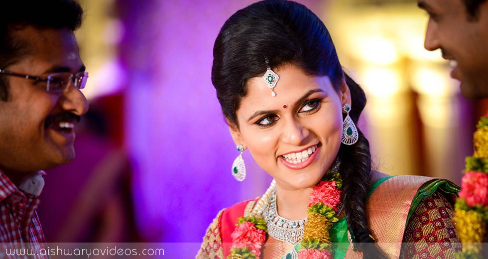 Karthikeyan & Ramyanivedhitha - wedding portrait photographers - Aishwarya Photos & Videos