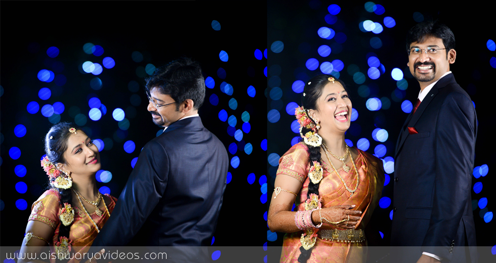 Vishnu & Sowmya - professional marriage photographer - Aishwarya Photos & Videos