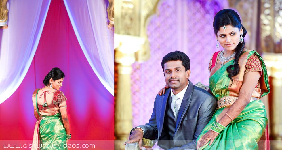 Karthikeyan & Ramyanivedhitha - professional marriage photographer - Aishwarya Photos & Videos