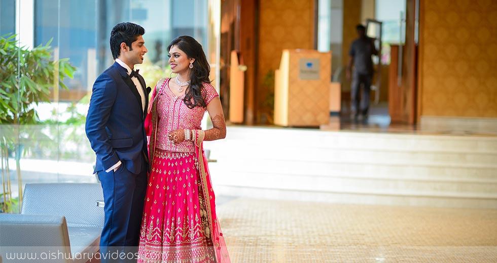 Sundeep & Dhivya - wedding portrait photographers - Aishwarya Photos & Videos