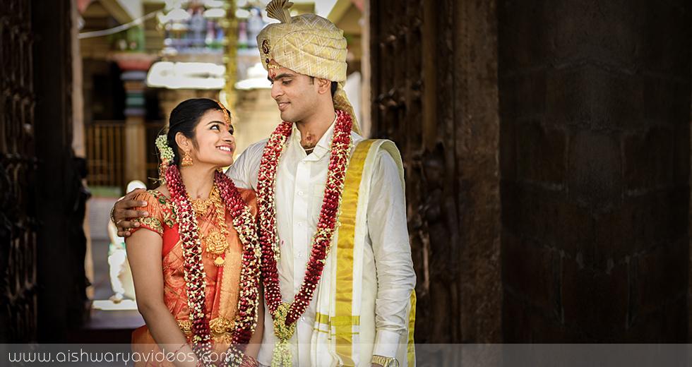 Shriramu & Nivetha - wedding portrait photographers - Aishwarya Photos & Videos