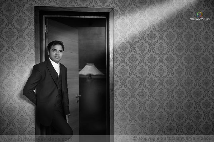 Vinoth & Sugasini – Black & White Wedding Portrait